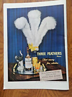 1944 Three Feathers Whiskey Ad