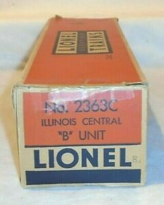 """BOX ONLY for LIONEL No. 2363 ILLINOIS CENTRAL """"B"""" UNIT - C-5, GOOD"""