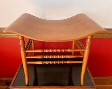 """Antique Maple Saddle Stool - Curved Seat Bench 15.5"""" x 22"""""""