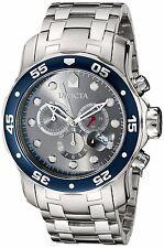 Invicta Men Pro Diver Scuba Grey Chronograph Dial Stainless Steel Bracelet Watch