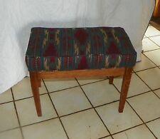 Quartersawn Oak Southwest Print Vanity Bench (Bn106)