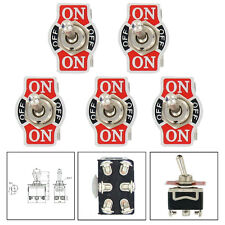5 X Car 20A 125V 15A 250V DPDT 6Pin ON/OFF/ON Metal Toggle Switch ATM