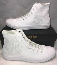 Converse Mens Size 8 Los Angeles Limited White Out CTAS Leather Shoes New $100