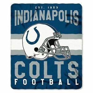 "Indianapolis Colts 50"" x 60"" Singular Fleece Throw Blanket by Northwest"