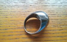 Dome Ring Sz.9 Silver Metal New Unisex Fashion Ring Mirrored High Polished