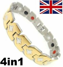 Magnétique Power Energy Santé Bracelet Bio Brassard 4in1 arthrite Acier Inox