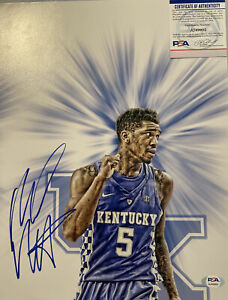 Malik Monk Kentucky Wildcats Autographed 11x14 Custom Photo PSA/DNA Certed