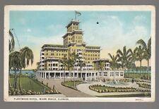 [50072] 1923 Postcard The Fleetwood Hotel in Miami Beach, Florida