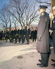 Aides to President John Kennedy walk in funeral procession New 8x10 Photo