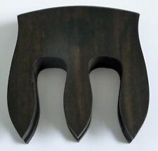 More details for a vintage dark wood mute possibly for a cello