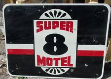 Huge/Used 48x36 SUBWAY Restaurant/SUPER 8 Motel Road/Highway/Freeway Sign S485