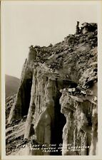 Lady at the Organ Red Rock Canyon Near Lancaster California CA RPPC Postcard B20