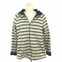 Tommy Bahama Full Zip Jacket Women's S Small Striped Reversible Striped