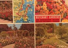 Butchart Gardens Map #26 Collectors Series Vancouver Island BC Post Card
