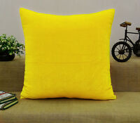 Indian Cushion Cover Solid Home Decor Throw Pillow Velvet Case -Choose Size