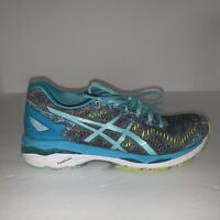 Asics Gel Kayano 23 Womens Running Shoes Sneakers Blue Green Size 8 T6A5N