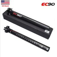 EC90 Full Carbon Fiber Bike Seatposts MTB Bicycle Seat Post Tube 27.2/31.6mm US