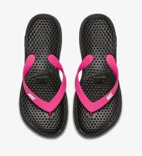 Nike Solay Thong 882699-001 Black Vivid Pink Women's Flip-Flop Sandals NEW!