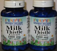 New Milk Thistle/Silymarin Herb 1000mg 400 capsules  Helps Repair Liver Health