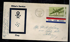 1944 USA Patriotic Cover Camp Ritchie MD Ithaca NY Hitler's Service Flag