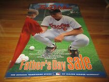 Promo True Value 1992 Clemente Man of the Year Cal Ripken Jr Orioles Poster