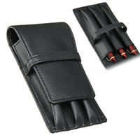 Fountain Pen Roller PU Leather Pouch Pen Case Holder Storage Bag for 3 Pens   `,