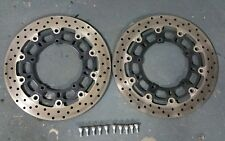2007 06-16 Yamaha YZF R6 R-6 R6R R-6V Front Brake Rotors Left Right oem bolts
