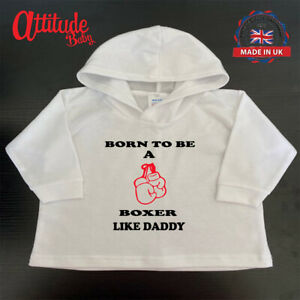 Baby Boxing Hoodies-Printed-Born To Be A Boxer Like Daddy-Printed-Boxing Clothes