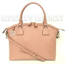 GUCCI dusty pink leather Large DOME gold GG CHARM convertible TOTE bag NWT Auth