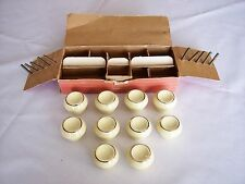 Vintage Box of 10 Yale & Towne Hand Decorated Ceramic Pull Knobs NOS