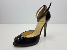 Ivanka Trump women shiny black heel shoes