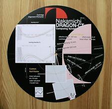 Nakamichi Dragon-CT Custom Designed Cartridge Tonearm Alignment Protractor