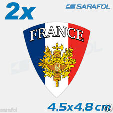 2x France Autocollant (Nr.020) Sticker Aufkleber Frankreich Francia 4,5x4,8cm