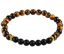 Meditation Chakas mala 6mm Yellow Tiger Eye Bracelet Healing Wrist Reiki