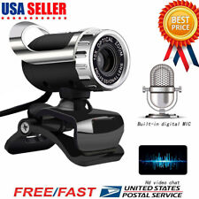 HD Webcam USB Computer Web Camera For PC Laptop Desktop Video Cam Microphone NEW