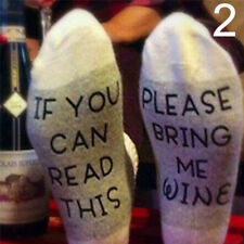 """Women Mens Unisex Socks """"If You Can Read This Bring Me A Glass Of Wine"""" Sales BD"""