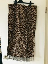 JCREW tan/brown leopard print scarf GOOD CONDITION