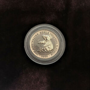 2000 Perth Mint Koala 1/20 oz .9995 Platinum Coin - Lowest Mintage Year