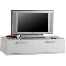 Base mobile soggiorno componibile 2 cassettoni laccato bianco BS3005 L120h30p52