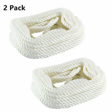 2 Pack 3/8 Inch 35 Ft 3 Strand Twisted Nylon Rope Dock Line Anchor/Rigging Line