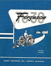 FERGUSON TO30 OWNERS OPERATORS MANUAL 8.5x11 version coil binding