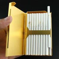 Cigarette Case Aluminum Alloy Cigarettes Storage Container Smoking Accessories