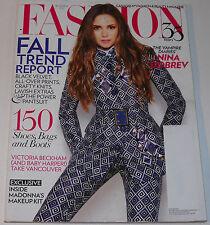 Fashion Magazine September 2012 Nina Dobrev Dragonette Victoria Beckham Q & A