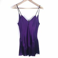 Victoria's Secret Vintage Purple 100% Silk Chemise Size M