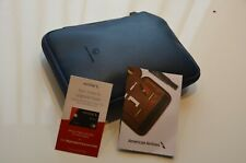 """American Airlines  Limited Edition Amenity Kit """" This is Ground"""" blue,New!!!"""