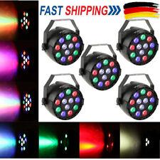 5stk LED RGBW Par Licht DMX512 Bühnenbeleuchtung Show Party DJ Disco Club Lampe