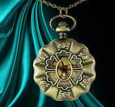 Reloj de Bolsillo inusual regalo para ella Collar Rosas Gótico para mujer presenta Amor Raro