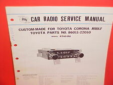 1969-1972 TOYOTA CORONA MK II PANASONIC AM RADIO FACTORY SERVICE MANUAL RT60-DU