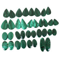 18 Pairs Natural Malachite AAA Finest Green Loose Cabochon Gemstones 18.5mm-37mm