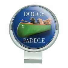 Doggy Dog Paddle Canoe Dogs Golf Hat Clip With Magnetic Ball Marker